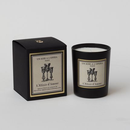 Candles - HOME REED DIFFUSER THE ELIXIR OF LOVE - Infusion of spices – tear drop of tea - UN SOIR A L'OPERA