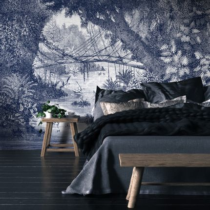 Wall decoration - Panoramic Engraving Wallpaper - Jungle - CIMENT FACTORY
