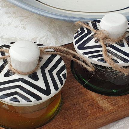Decorative objects - Recycled ramekin with walnut board - ARTINOO