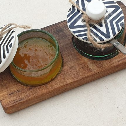 Decorative objects - Recycled ramekin with walnut board - ARTINOO