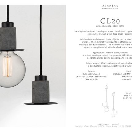 Suspensions - CL20 pendant light - Edison & Spot - ALENTES