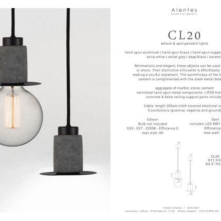 Pendant lamps - CL20 pendant light - Edison & Spot - ALENTES
