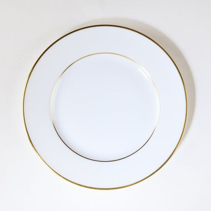 Assiettes de reception - L' assiette plate ELEGANCE or mat - ALAIN BABULE