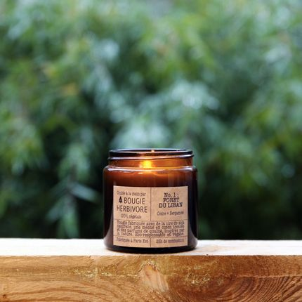 Candles - No. 1 : FORET DU LIBAN - Cedar + Bergamot - Small - LA BOUGIE HERBIVORE