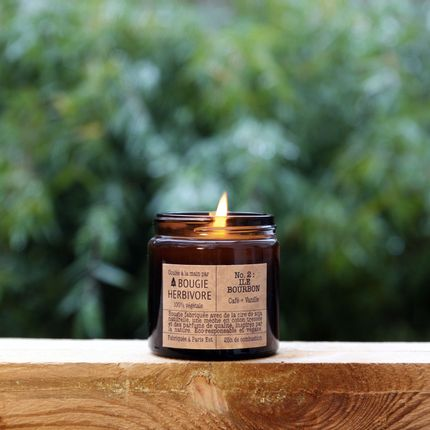 Candles - No. 2 : ILE BOURBON - Coffee + Vanilla - Small - LA BOUGIE HERBIVORE