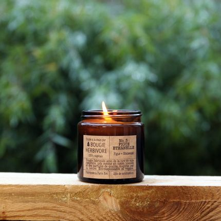 Candles - No. 3 : FIGUE ETERNELLE - Fig + Edelweiss - Small - LA BOUGIE HERBIVORE