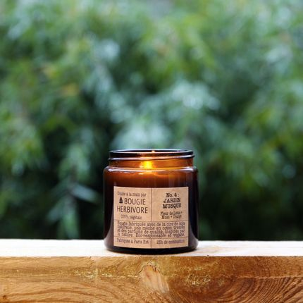 Candles - No. 4 : JARDIN MUSQUE - Lotus Flower + Musk + Orange - Small - LA BOUGIE HERBIVORE