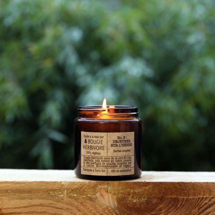 Candles - No. 5 : DEJEUNER SUR L'HERBE - Cut grass - Small - LA BOUGIE HERBIVORE
