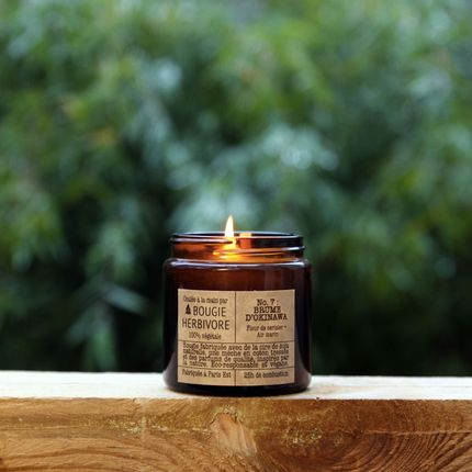 Candles - No. 7 : BRUME D'OKINAWA - Cherry blossom + Air Marine - Small - LA BOUGIE HERBIVORE