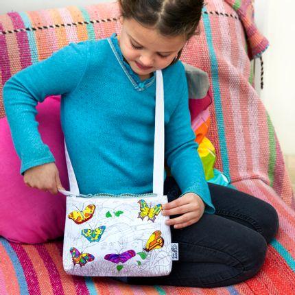 Creative Hobbies - colour & learn butterfly crossbody bag - EATSLEEPDOODLE