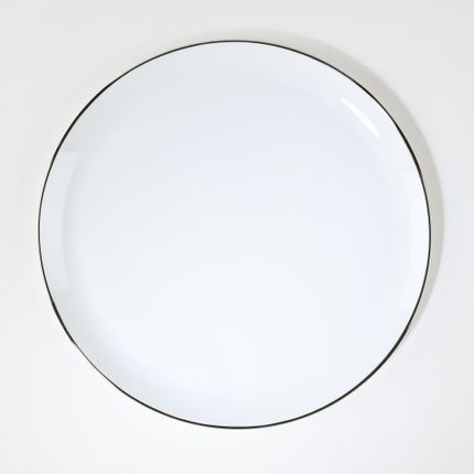 Platter, bowls - The brilliant platinum ELEGANCE pie dish  - ALAIN BABULE