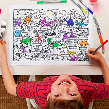 Creative Hobbies - dinosaur placemat to go  - EATSLEEPDOODLE