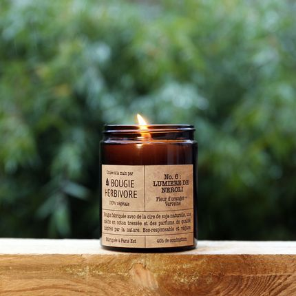 Candles - No. 6 : LUMIERE DE NEROLI - Neroli + Verbena - Medium - LA BOUGIE HERBIVORE