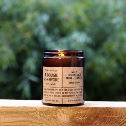 Candles - No. 5 : DEJEUNER SUR L'HERBE - Cut grass - Medium - LA BOUGIE HERBIVORE