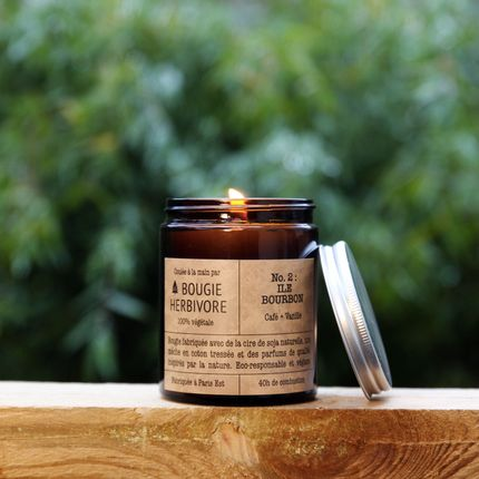 Candles - No. 1 : FORET DU LIBAN - Cedar + Bergamot - Medium - LA BOUGIE HERBIVORE