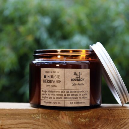 Candles - No. 2 : ILE BOURBON - Coffee + Vanilla - Double Wick - LA BOUGIE HERBIVORE