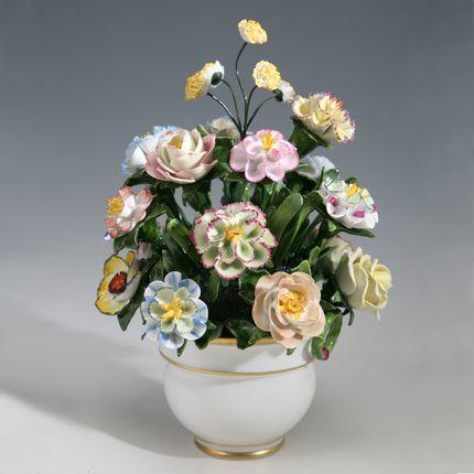 Objets de décoration - bouquet de fleurs - RUDOLF KÄMMER PORCELAIN