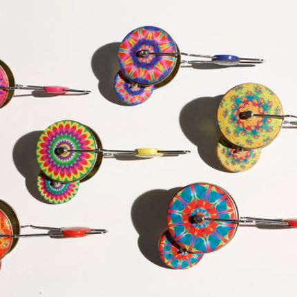 Loisirs créatifs - JIPPI, magnetic spinning top, 6 different colours - DIE BLECHFABRIK