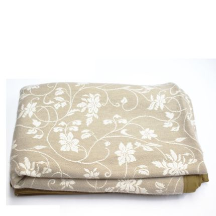 Homewear - Blanket Jaquard Floral with Suede Border. - VINTAGE SHADES
