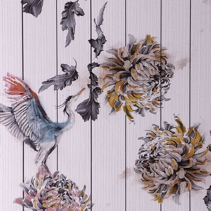 Wall decoration - PEONY WALLPAPER - RUG'SOCIETY
