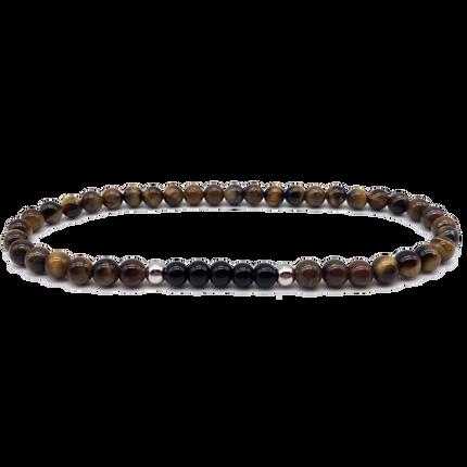 Bijoux - Bracelet perle Oeil de Tigre - Onyx - .POLYGON