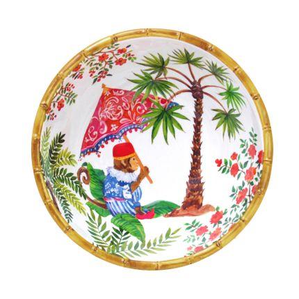 Plats/saladiers - Collection Singes de Bali en pure mélamine - LES JARDINS DE LA COMTESSE