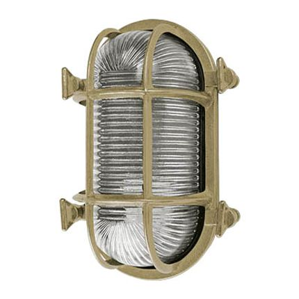Appliques - Brass Bulkhead Light no 57  - ANDROMEDA LIGHTING