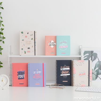 Range tout - Agendas et calendriers 2020 Mr. Wonderful - MR. WONDERFUL