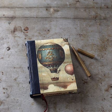 Stationery / Card shop / Writing - Half- Leather- Bound Journal - BOMO ART BUDAPEST