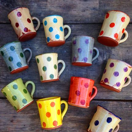 Tasses et mugs - Collection à pois - BARBOTINE AUBAGNE EN PROVENCE
