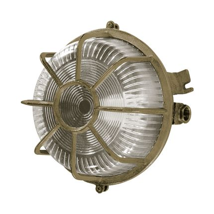 Wall lamps - Round Brass Bulkhead Light no 18 - ANDROMEDA LIGHTING