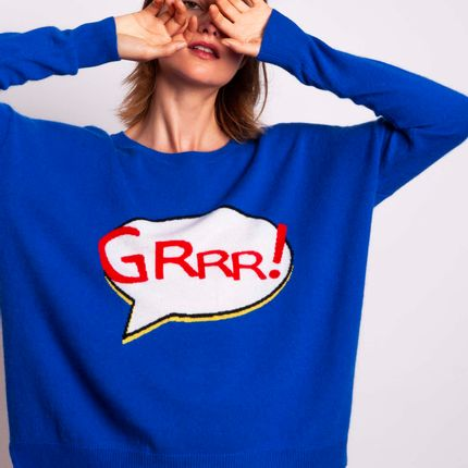 Ready-to-wear - Sweater GRRR  - MADLUV CASHMERE GOES POP