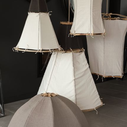 Suspensions - Bamboo Lamps - available in different shapes and colours  - TRACES OF ME