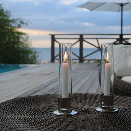 Design objects - Candleholder KATTVIK - nickel-plated brass / silver - KATTVIKDESIGN