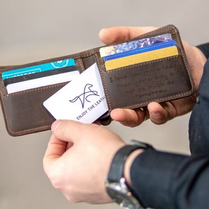 Petite maroquinerie - Portefeuille en cuir Protection RFID - ENJOYTHELEATHER