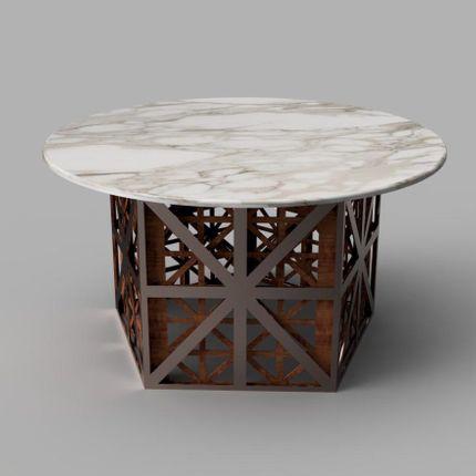 Tables - Table à manger en cage géométrique Kawkab - HIJR LONDON