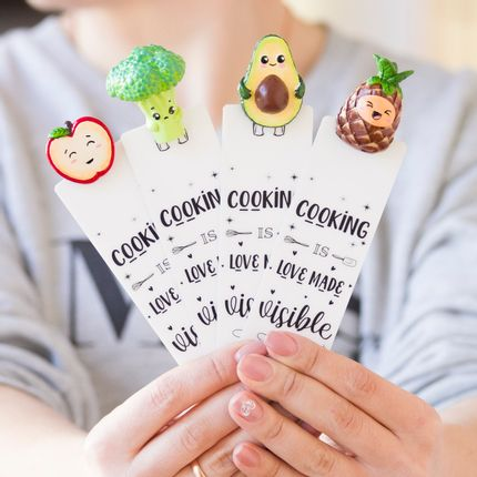 Gift - Cooking Collection Bookmark, handmade - myBookmark