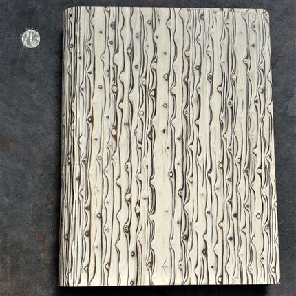 Stationery / Card shop / Writing - Karelian Iced Birch Notebook - BARK & ROCK