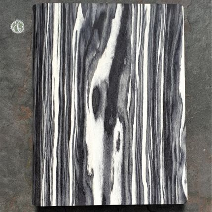 Personalizable objects - Black Zebra Notebook - BARK & ROCK