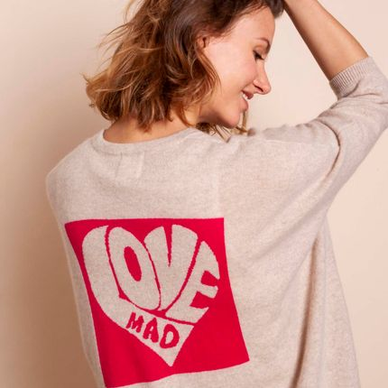 Ready-to-wear - Cardigan LOVE - MADLUV CASHMERE GOES POP