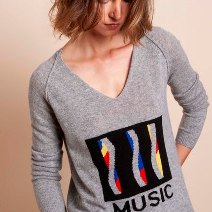 Prêt à porter - Pull MUSIC - MADLUV CASHMERE GOES POP