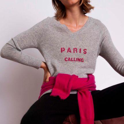 Prêt à porter - Pull PARIS CALLING - MADLUV CASHMERE GOES POP