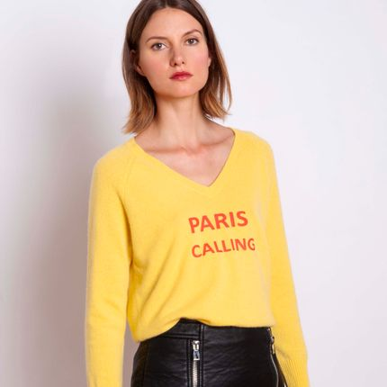 Ready-to-wear - Sweater PARIS CALLING - MADLUV CASHMERE GOES POP