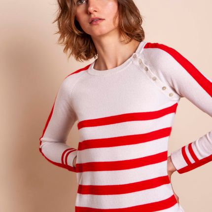 Ready-to-wear - Sweater POP MARINIERE - MADLUV CASHMERE GOES POP