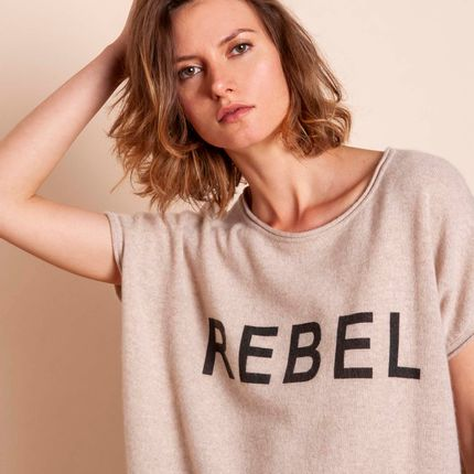 Ready-to-wear - Top REBEL - MADLUV CASHMERE GOES POP