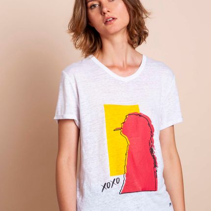 Ready-to-wear - Tshirt XOXO - MADLUV CASHMERE GOES POP
