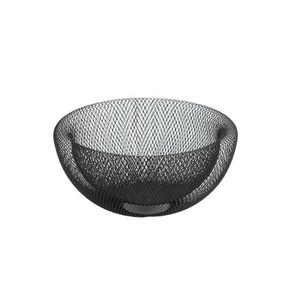 "Decorative objects - Bowl ""Maze"", black, metal - WERNER VOSS"