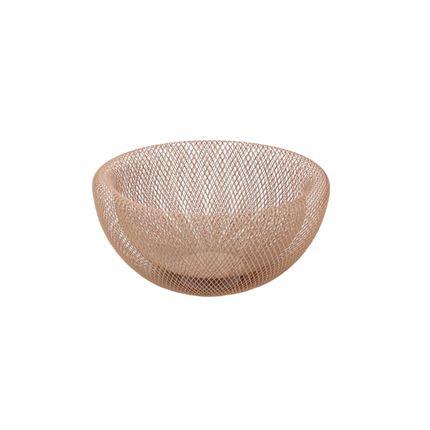 "Decorative objects - Bowl ""Maze"", pink, metal - WERNER VOSS"