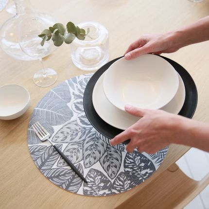 Sets de table - Sets de table - Lauranne BIC - Noir - MAISON BERHT