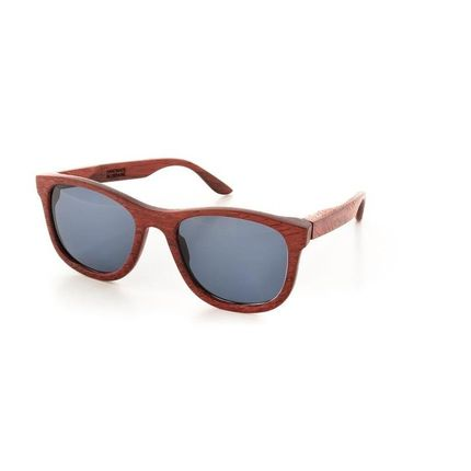 Glasses - Casual Unisex Sunglasses Merbau Wood - ENJOYTHEWOOD